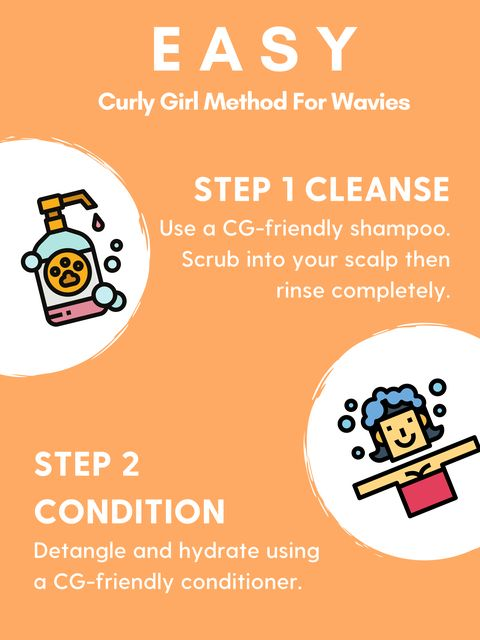 Easy curly girl approved hair care routine for wavy hair 💇🏼♀️