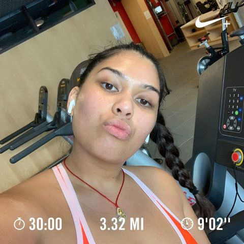 Lunch time self love! Getting a run in at work!