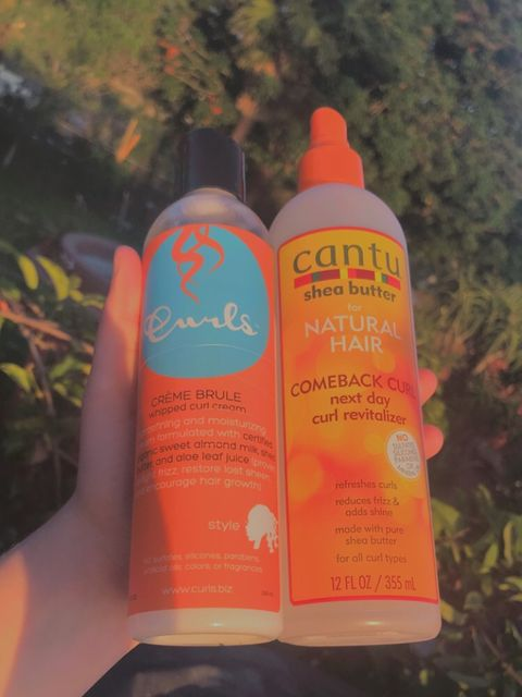 My curly hair products