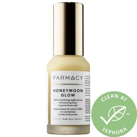 HONEYMOON GLOW AHA Resurfacing Night Serum with Hydrating Honey + Gentle Flower Acids