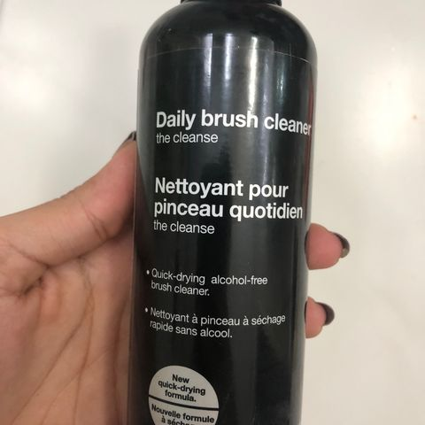 sephora daily brush cleaner will give clear skin