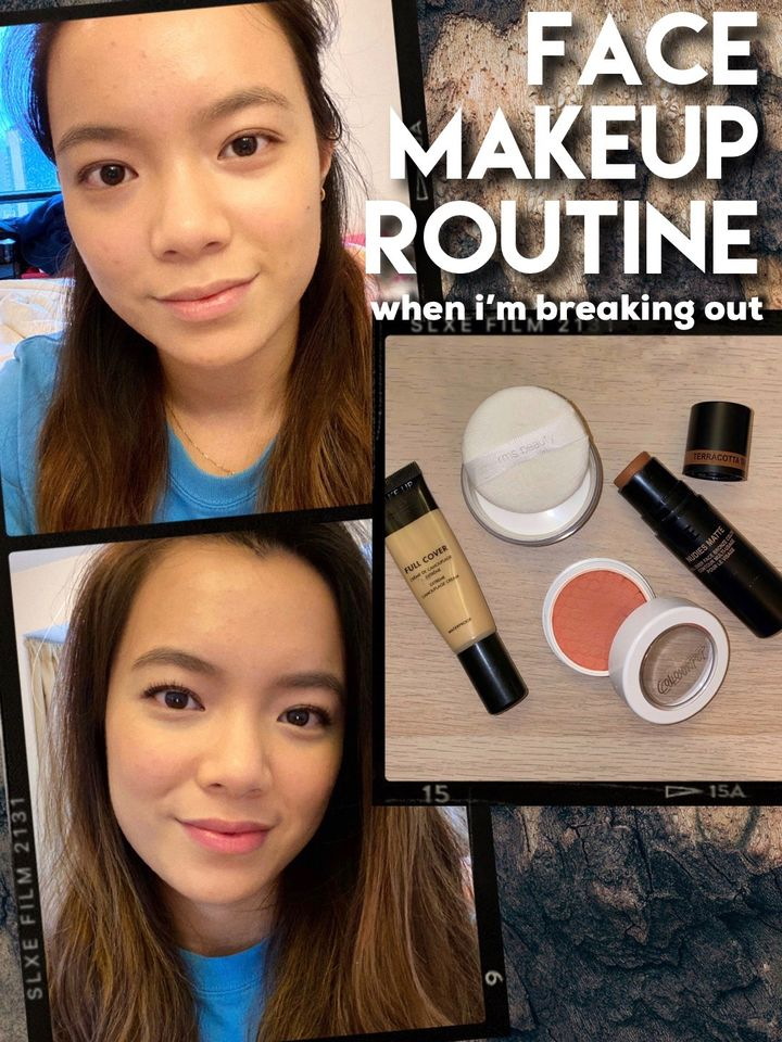MY FACE MAKEUP ROUTINE for when I'm breaking out