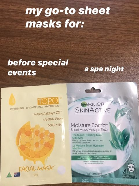 My go-to sheet masks