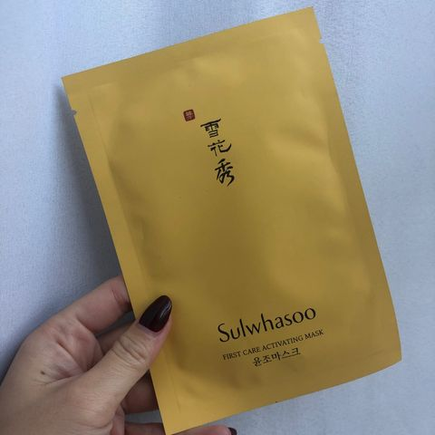 Sulwhasoo sheet mask - luxurious perfection!