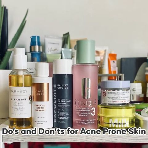 The Do's and Don'ts for Oily, Acne Prone Skin