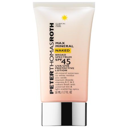 Max Mineral Naked Broad Spectrum SPF 45 UVA/UVB Protective Lotion
