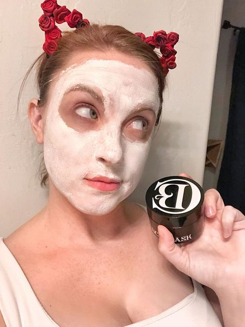 Using my favorite mask at the