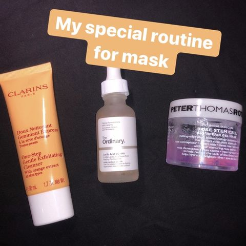 My special routine for mask.