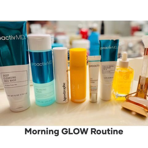 Morning Routine for GLOWING Skin